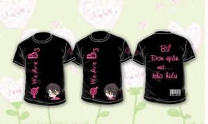 Mẫu áo nhóm màu đen